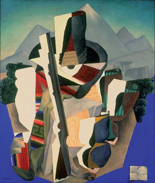 """Diego Rivera, """"Zapatista Landscape (The Guerrilla)"""" (1915), Museo Nacional del Arte, Mexico. (© 2016 Banco de México Diego Rivera & Frida Kahlo Museums Trust. Av. 5 de Mayo No. 2, Col. Centro, Del. Cuauhtémoc 06059, Mexico City.)"""