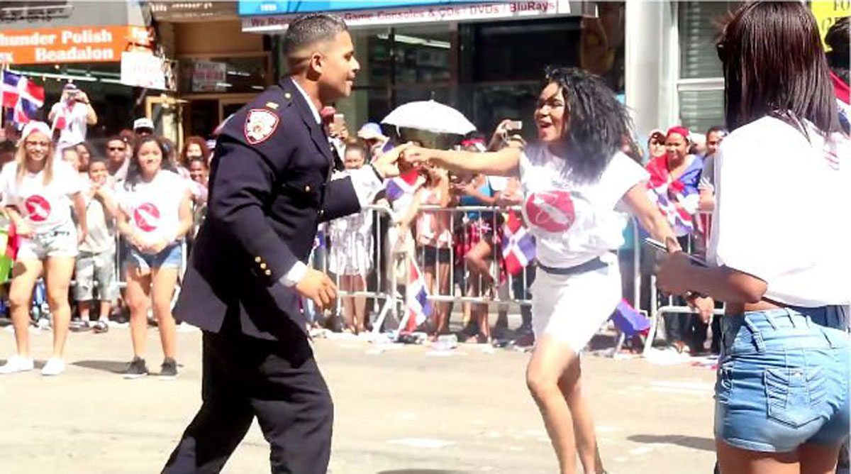 At the Last Dominican Day Parade, This Corrections Officer Salsa Danced Harder than Anyone Else