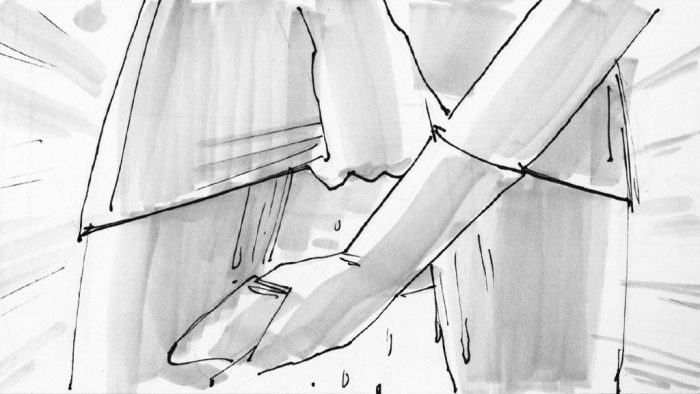 Storyboard Illustration by Wes Simpkins