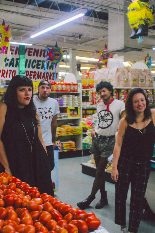 La Choloteca founders Randall Ruiz, Josephine and Kenneth Figueroa, and Monica Campana. Photo by Chalane Bauzo