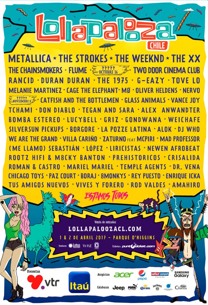 lolla chile poster_music