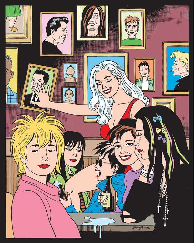 The cover of the forthcoming issue of 'Love and Rockets: stories of SoCal punks .