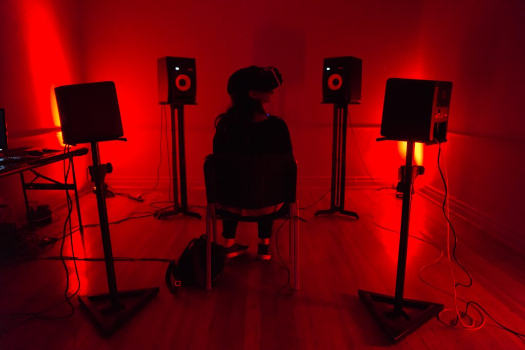 VR Salon at Mutek.MX 2016. Photo by Diego Figueroa.