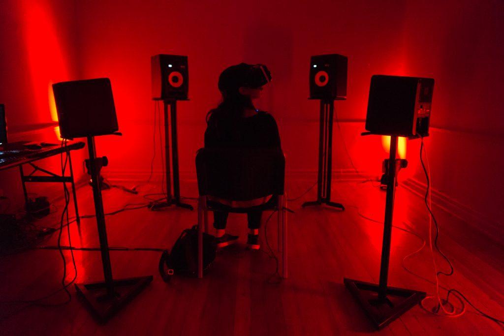 VR Salon at Mutek.MX 2016. Photo by Diego Figueroa.