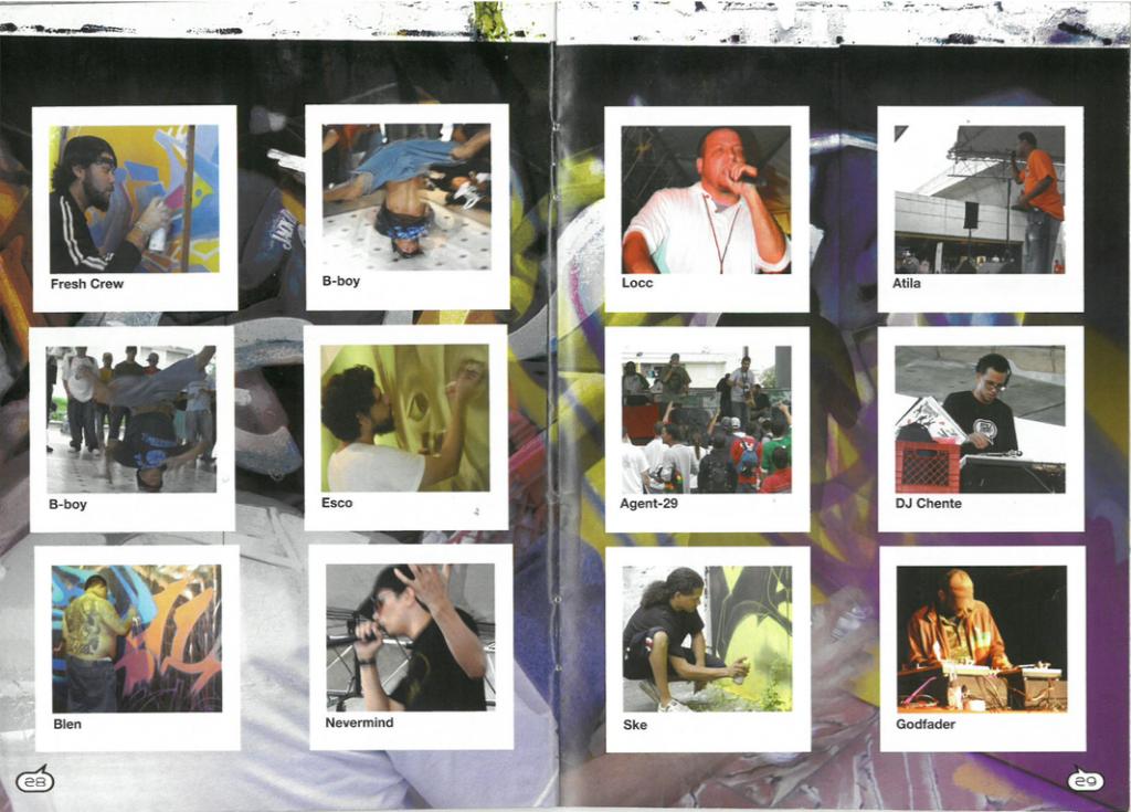 Noctámbulo spread from 2006 issue on Feria de Cultura Urbana.