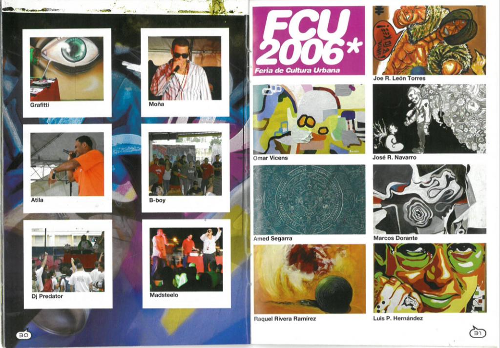 Spread from issue #94, Noctámbulo's special on the 2006 Feria de Cultura Urbana.