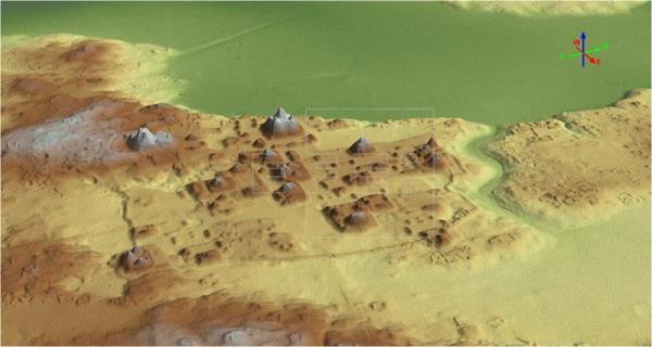 Radar image of El Mirador Photo: Proyecto Arqueológico Cuenca Mirador via EFE