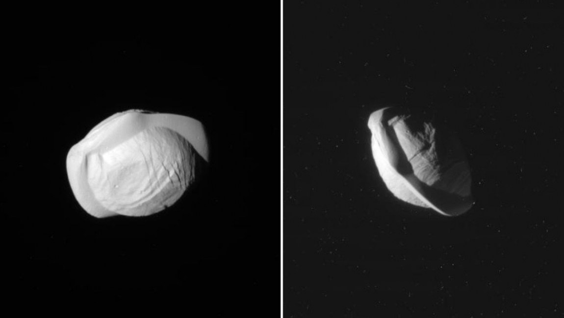 It's a UFO! It's a walnut! Actually, it's Saturn's moon Pan — GeekWire