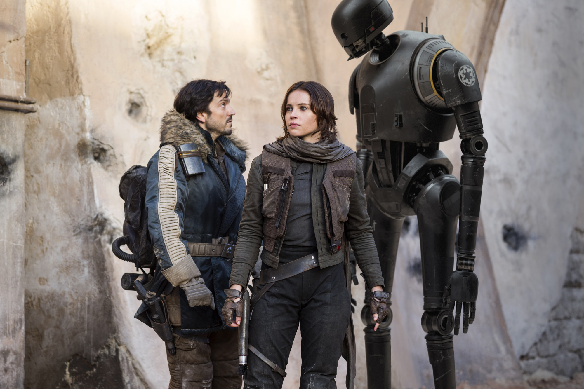 The Hilarious Backstory of Why K-2SO Slapped Diego Luna in 'Rogue One: A Star Wars Story'