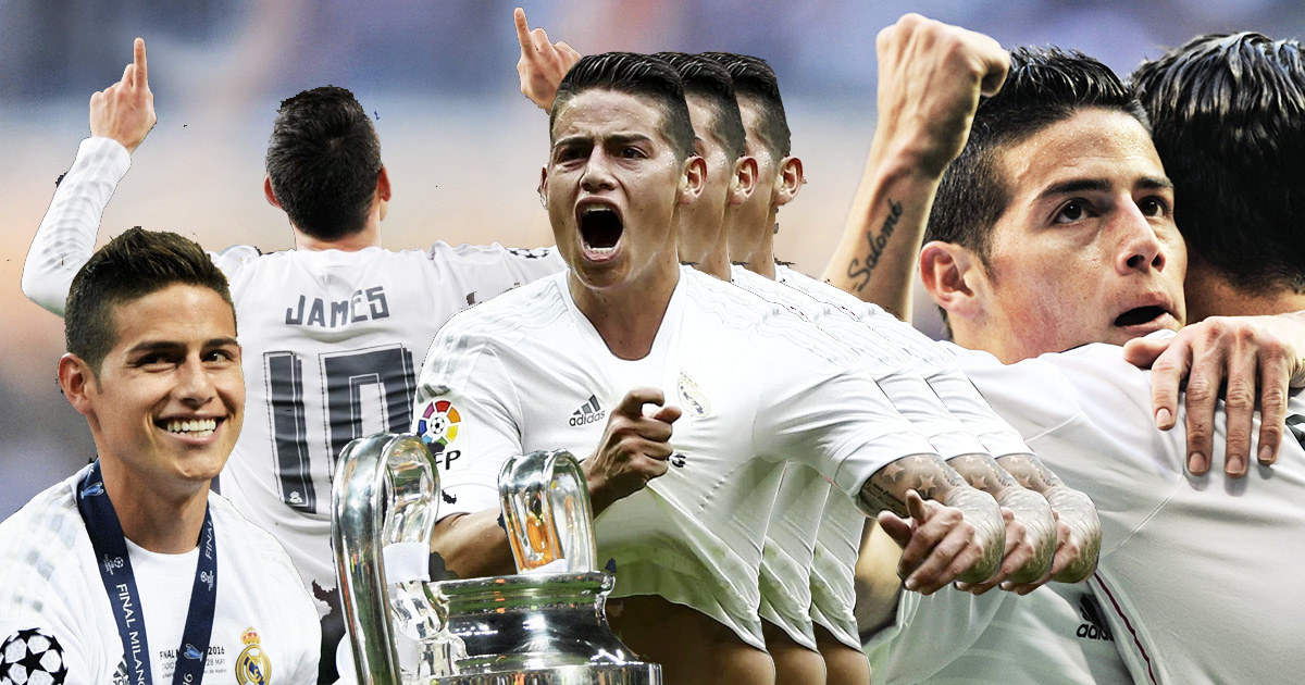 As He Prepares to Leave the Club, Check Out James Rodríguez's 5 Best Real Madrid Goals