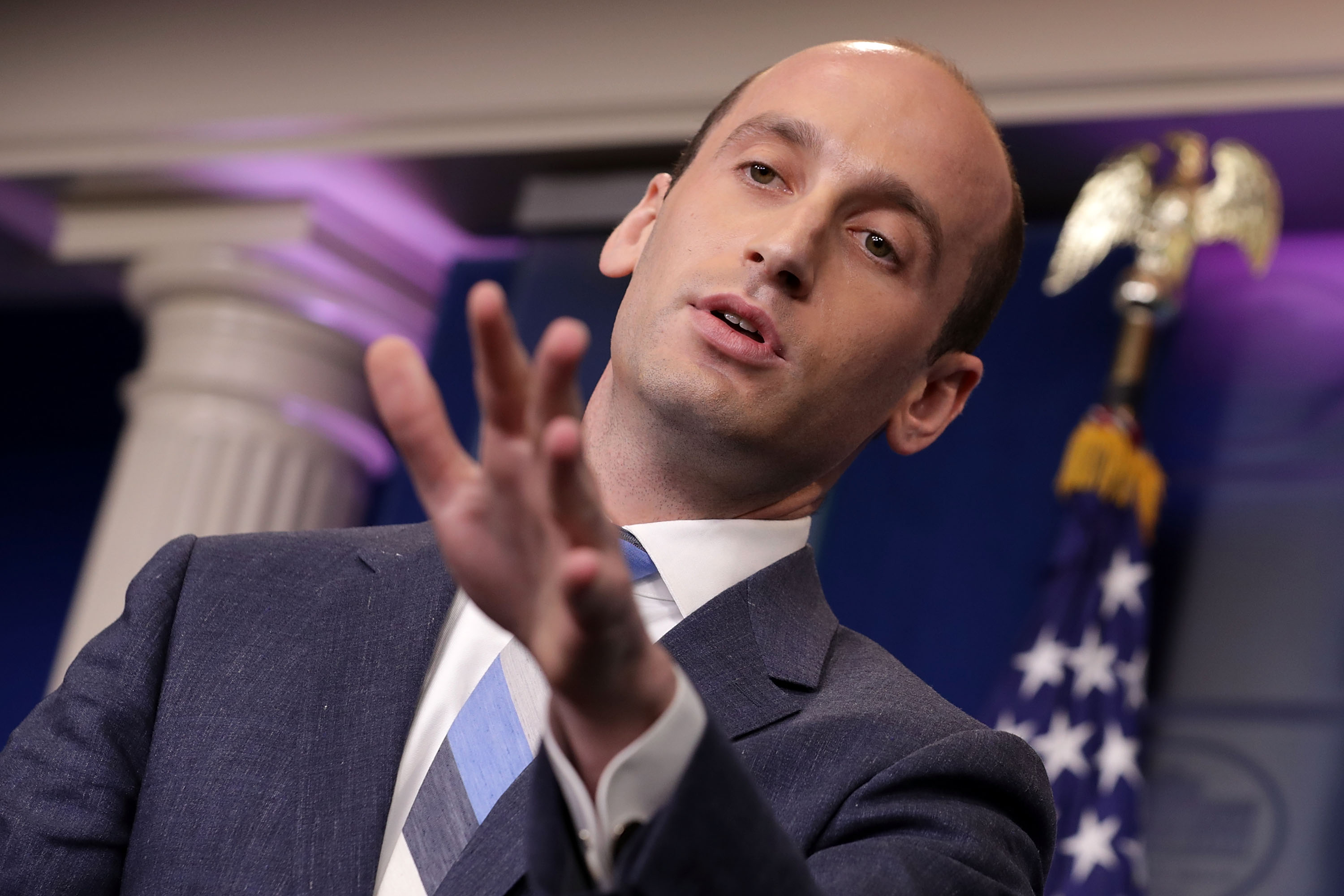 Stephen Miller's Tragic, Spray Painted Hairline Inspired a Twitter Roasting for the Ages