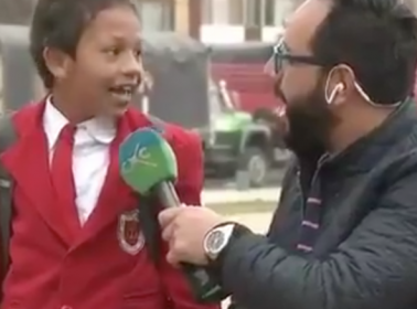 This Little Boy Realizing He's Late to School on Live TV Is Precious