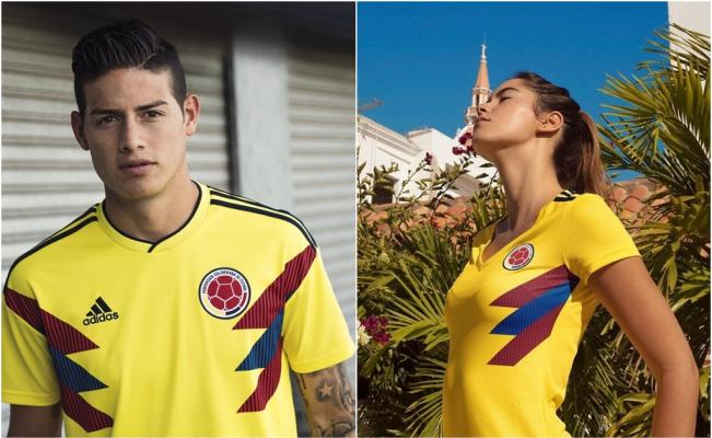 Adidas  Sexist Colombia Jersey Reveal  James for the Men, a Model for the  Women 2bd572a95a