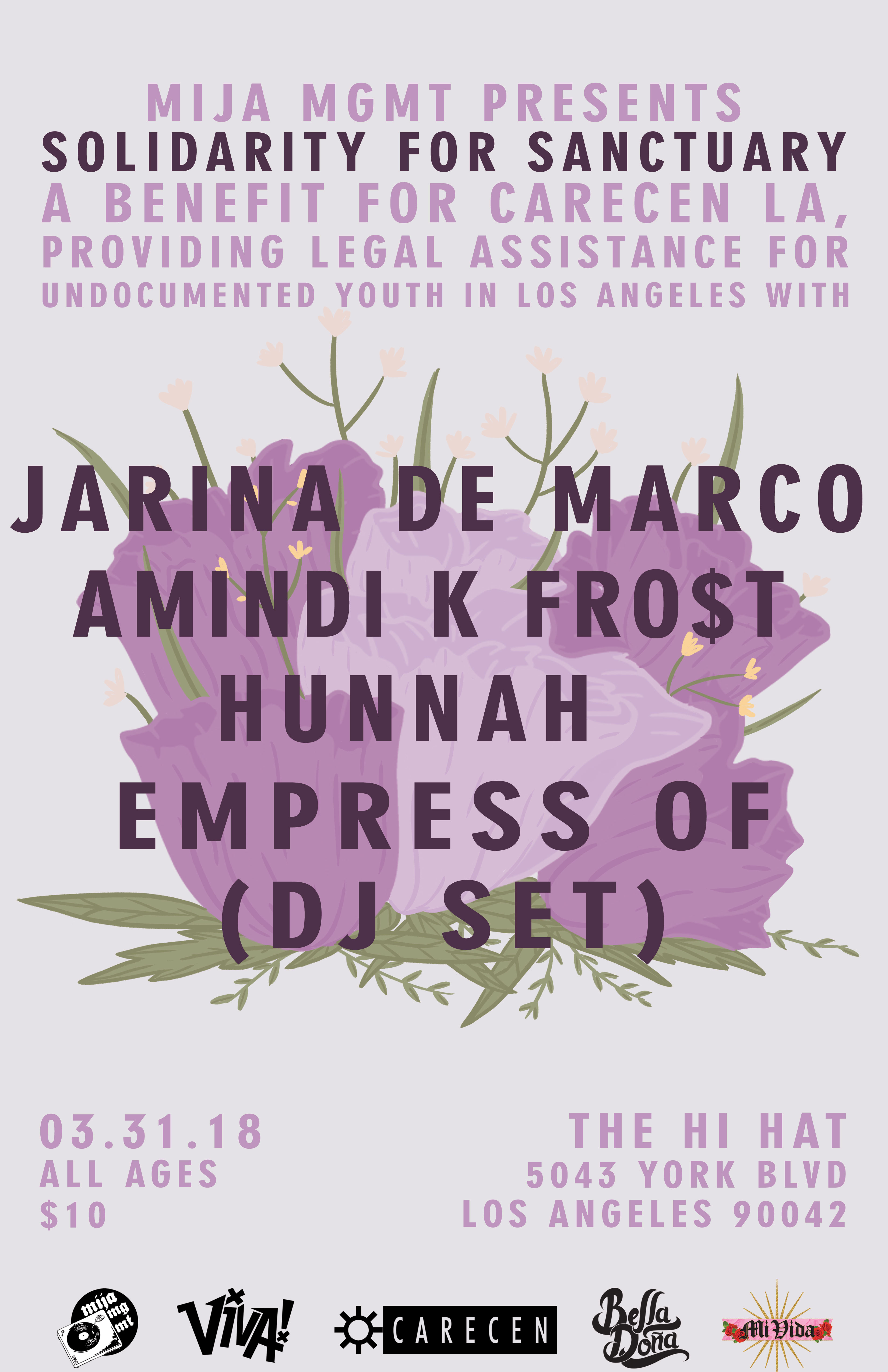 Jarina de Marco & Empress Of to Play Show for Undocumented Youth