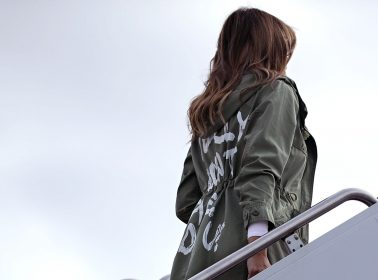 """Melania Trump Wears """"I Really Don't Care"""" Jacket on Route to Visit Immigrant Children at the Border"""