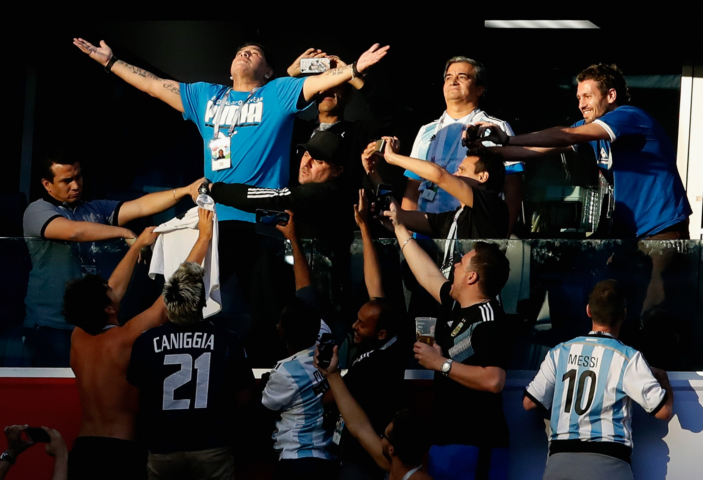 Maradona Achieved New Levels of Extra at the Argentina-Nigeria Match