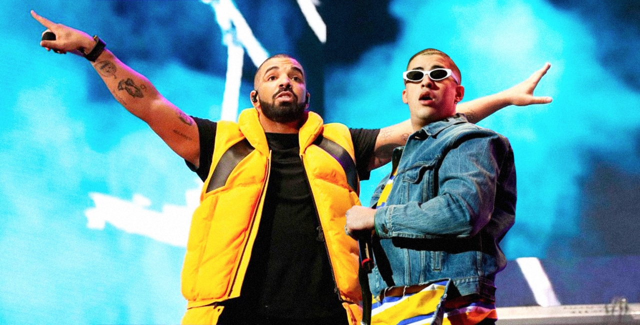 Bad Bunny and Drake Spotted Filming Music Video Together in Miami