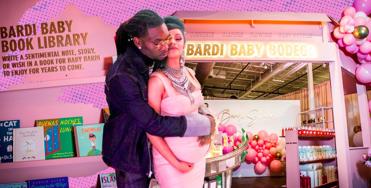 Cardi B Had A Bronx Themed Baby Shower Complete With A Bodega