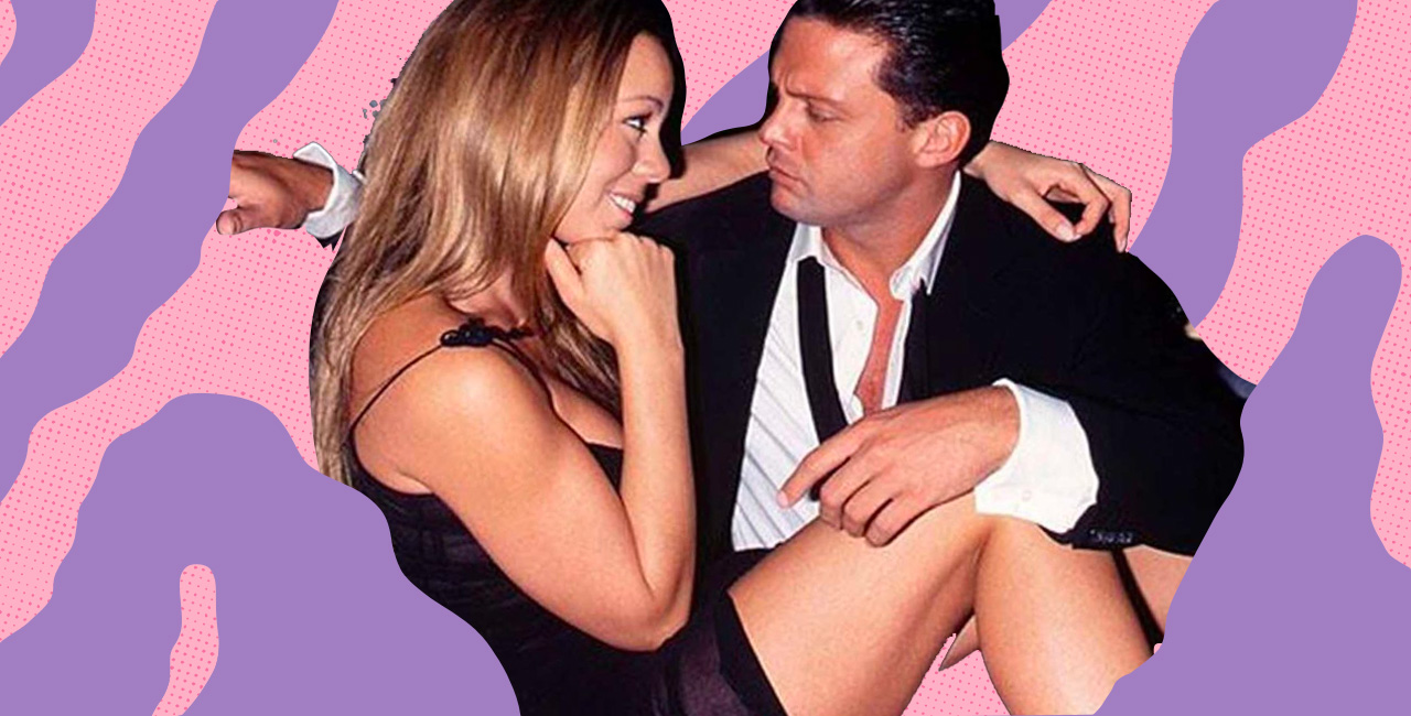 A Look Back at Luis Miguel and Mariah Carey's Three-Year Relationship