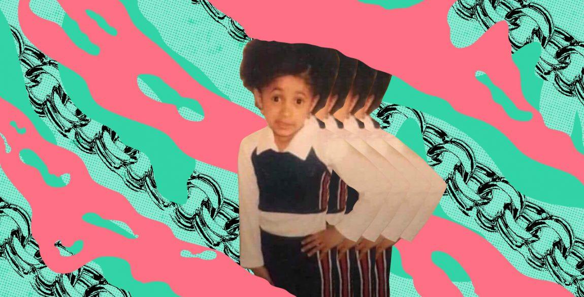 Childhood Photo Of Cardi B Becomes Dank Mami Dijo Meme