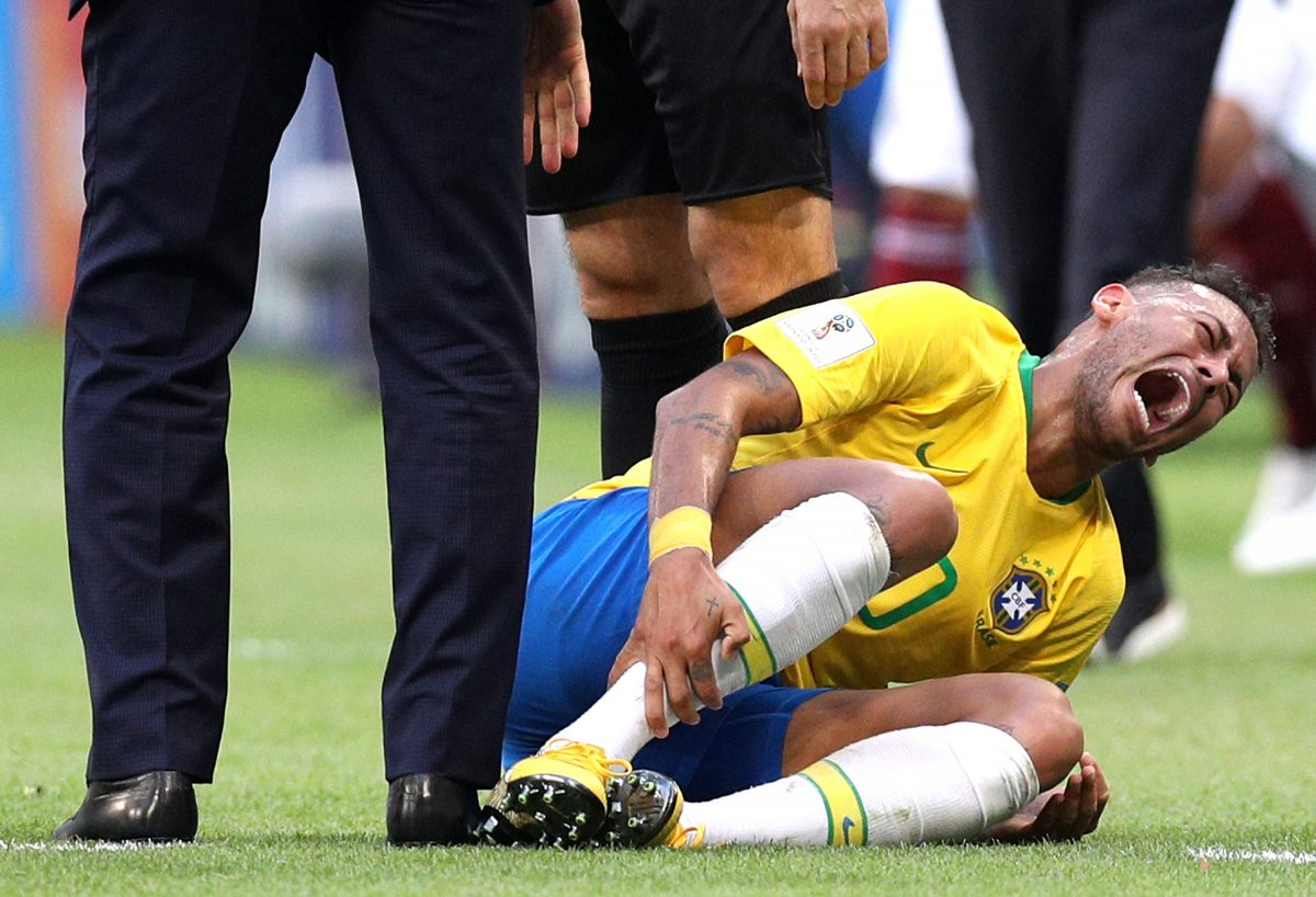 Neymar Has Spent More Minutes on the Floor This World Cup Than Some Players Have Spent on the Pitch