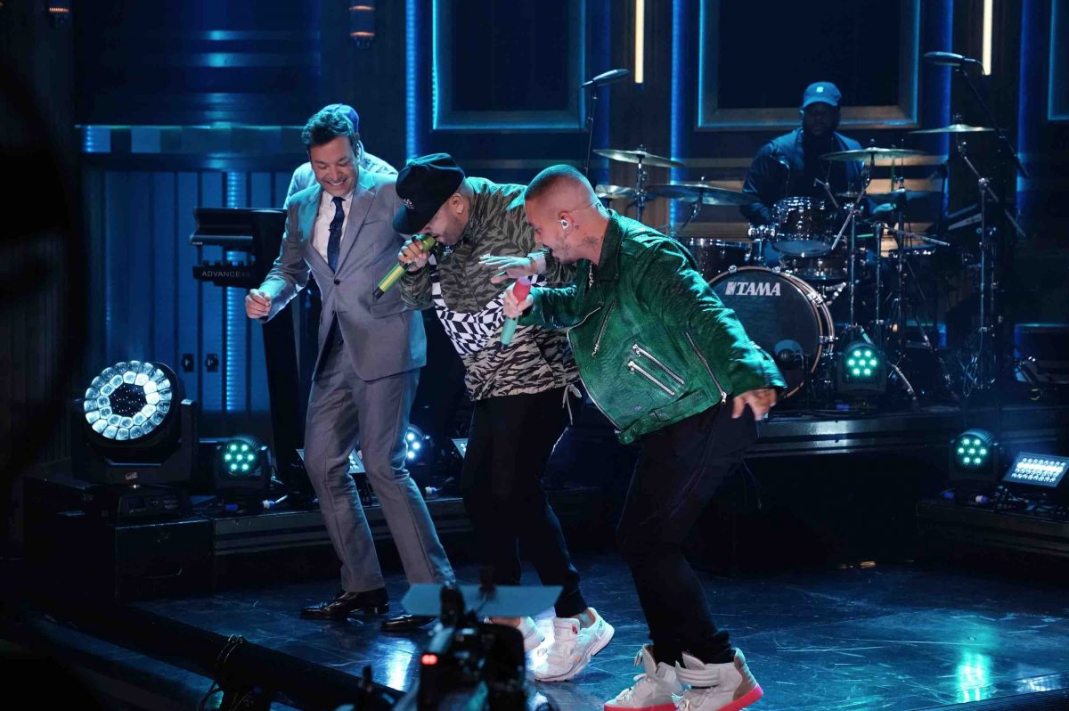Jimmy Fallon Danced With J Balvin & Nicky Jam Onstage on 'The Tonight Show'