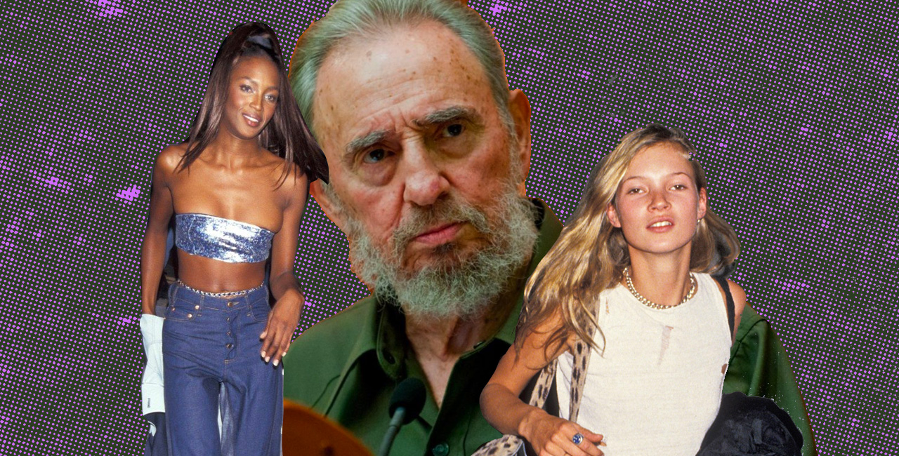 The Bizarre Meeting Between Fidel Castro and Supermodels Kate Moss and Naomi Campbell