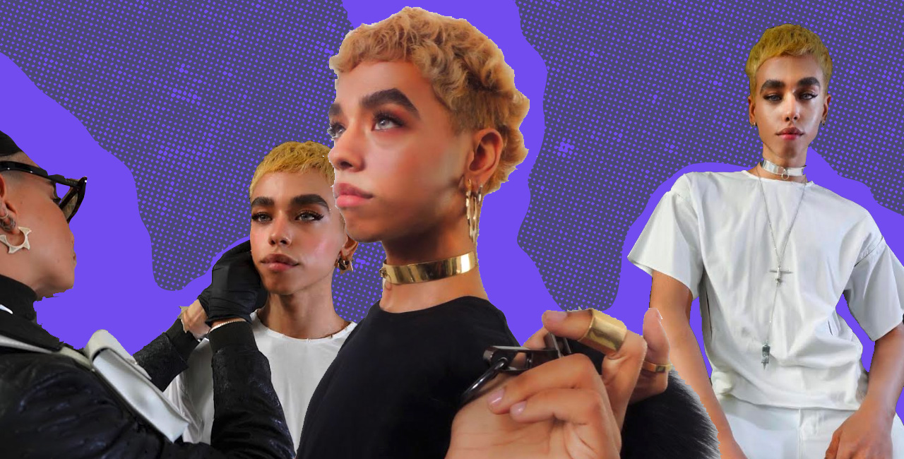 Meet Alfred Marine, a Dominican Model Whose Eyebrows Help Him Book Gigs