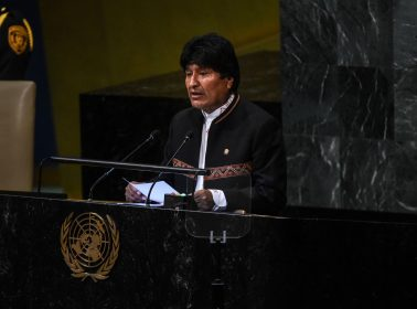 "At United Nations, Bolivian President Evo Morales Says US ""Does Not Care for Human Rights"""