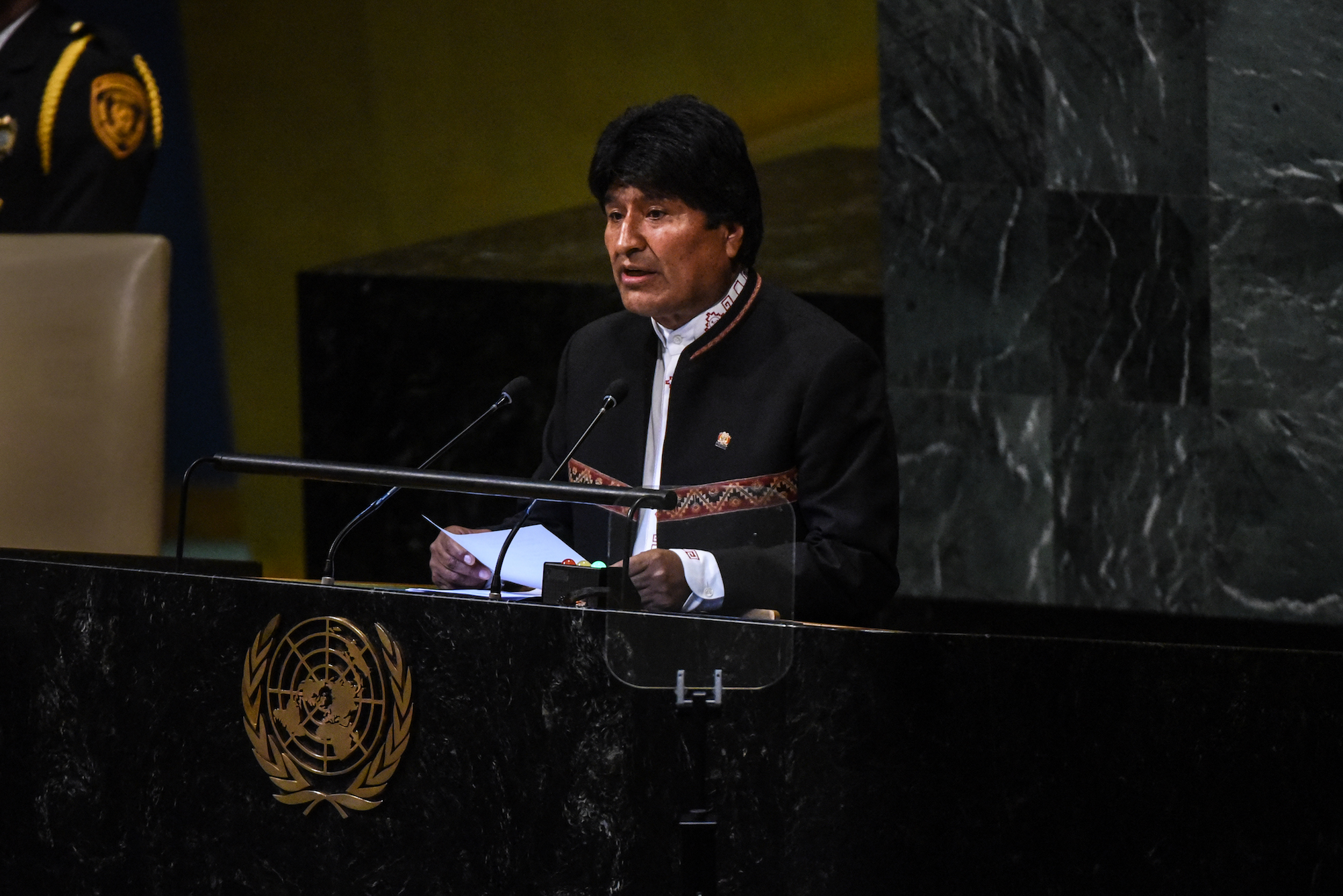 """At United Nations, Bolivian President Evo Morales Says US """"Does Not Care for Human Rights"""""""