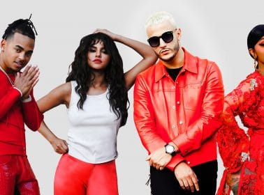"DJ Snake, Cardi B, Ozuna and Selena Gomez Dance on a Volcano in the ""Taki Taki"" Video"