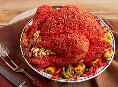 There's a Recipe for Flamin' Hot Cheetos Coated Turkey & People Have Lots of Thoughts