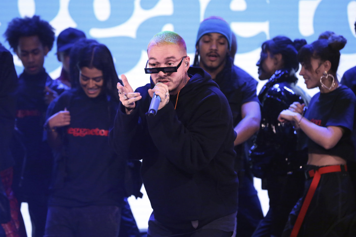 "J Balvin Performs ""Reggaeton"" on 'The Tonight Show,' His Fourth Late Night Appearance of the Year"