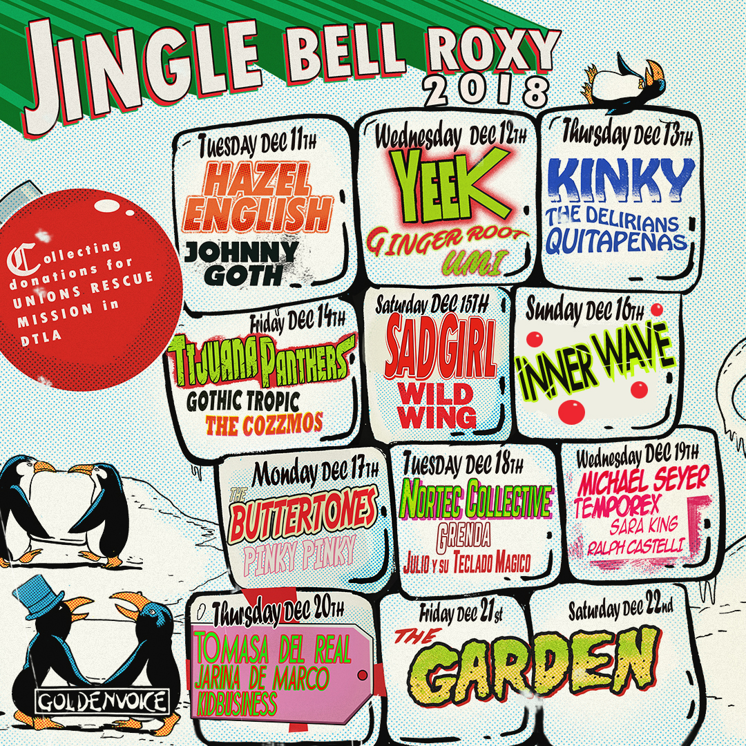 The Roxy's Jingle Bell Showcase Features Latinx Artists & Helps Homeless Families in Need