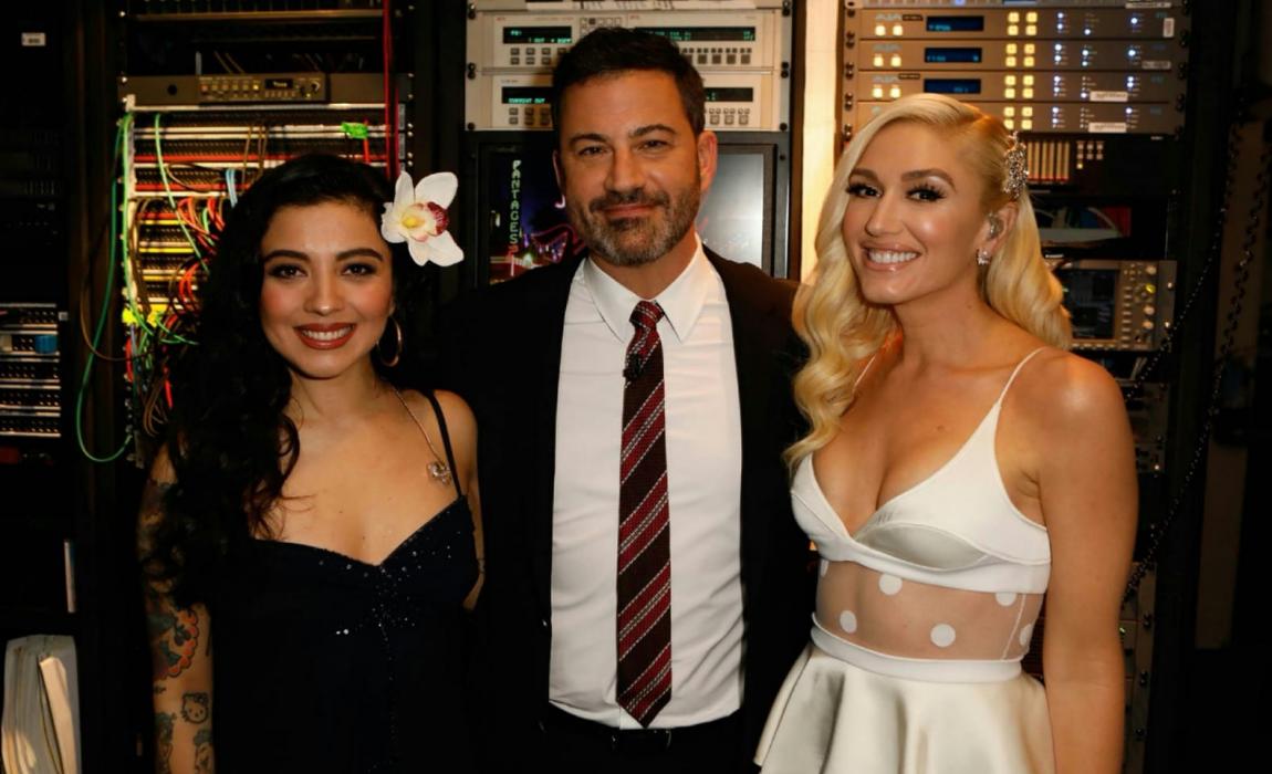 """Mon Laferte Sang """"Feliz Navidad"""" in a Duet with Gwen Stefani on  Jimmy  Kimmel Live!  26c2b6f3a6"""