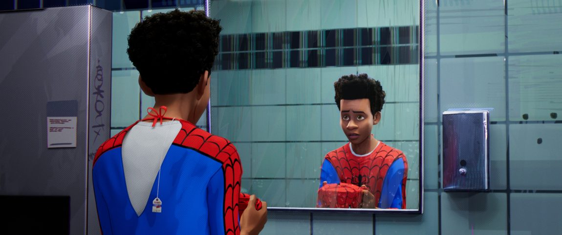 Image result for miles morales into the spider verse