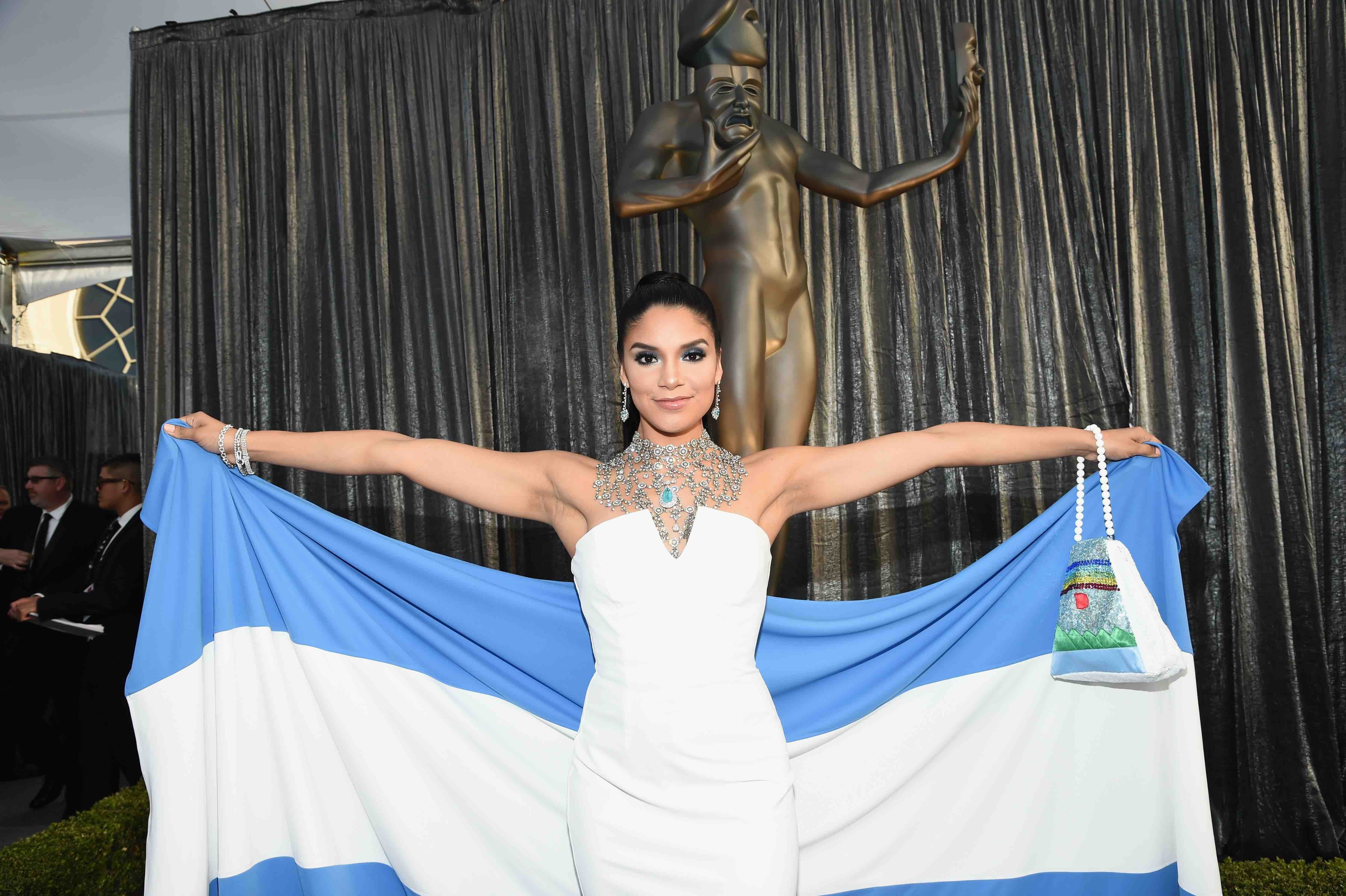 'GLOW' Actress Shakira Barrera Shows Solidarity With Nicaragua With Her SAG Awards Outfit
