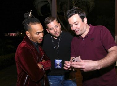 Jimmy Fallon Spotted Dancing Bomba & Filming With Ozuna and Bad Bunny for 'Tonight Show'