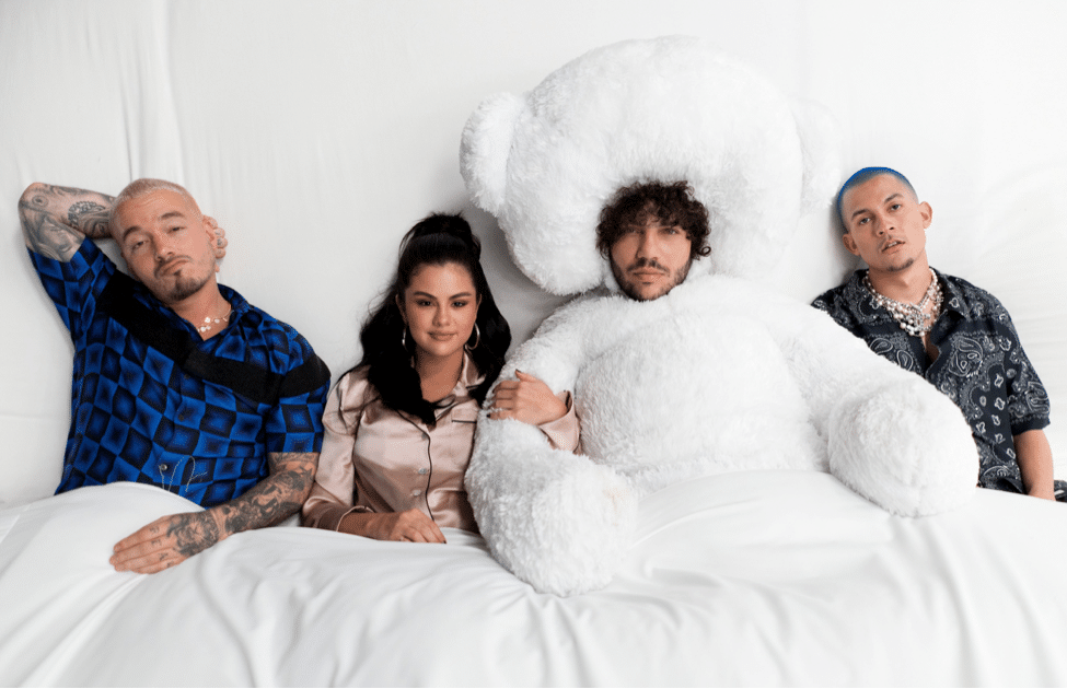 "J Balvin, Selena Gomez, Tainy & Benny Blanco Team Up for Pop Mega-Collab ""I Can't Get Enough"""