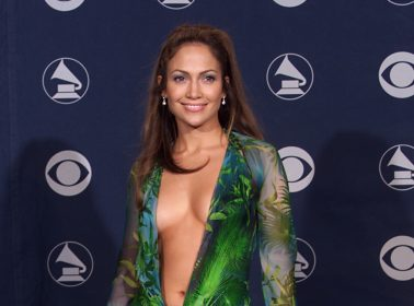 JLo Closes the Versace Show in a Version of her Iconic Green Grammy's Dress