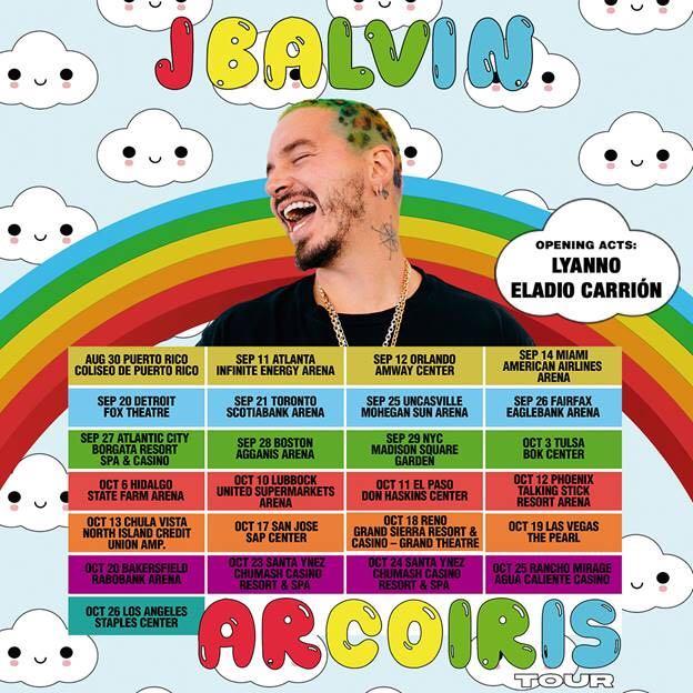 J Balvin Announces 25-Date North American 'Arcoiris' Tour