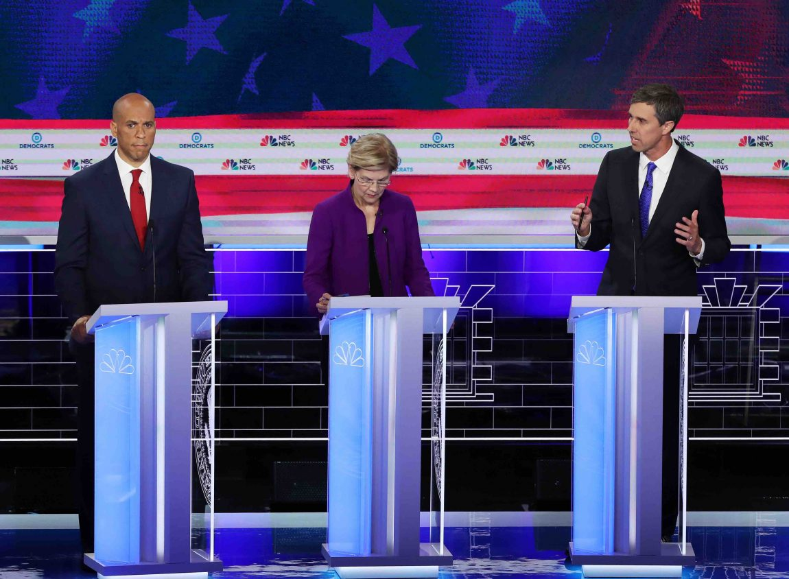 Democrat candidates tried to answer questions in Spanish during Wednesday night's debate