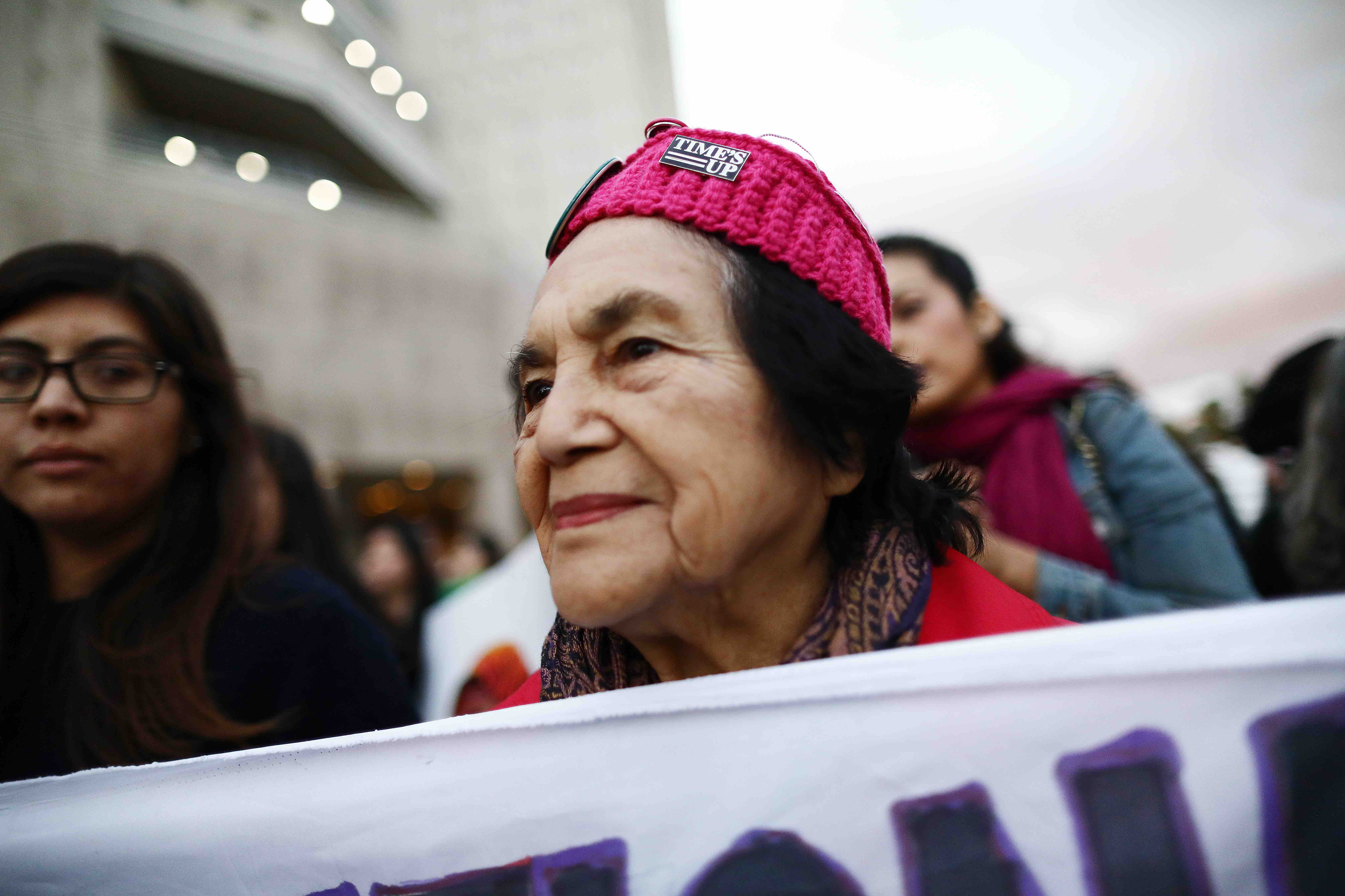 Dolores Huerta Was Arrested at Labor Protest in Fresno