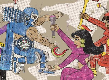 Artist Jorge Garza Has Aztec-Style Illustrations of Selena, Prince & More Pop Culture Figures
