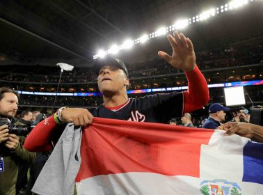The Dominican Flag Was on Full Display for the World Series Celebrations