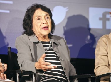 Artist Repaints Dolores Huerta Mural in San Francisco After It Was Defaced