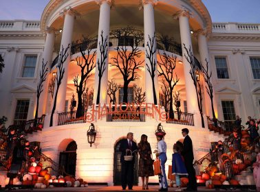 "The White House Halloween Party Included a ""Build the Wall"" Activity for Children"