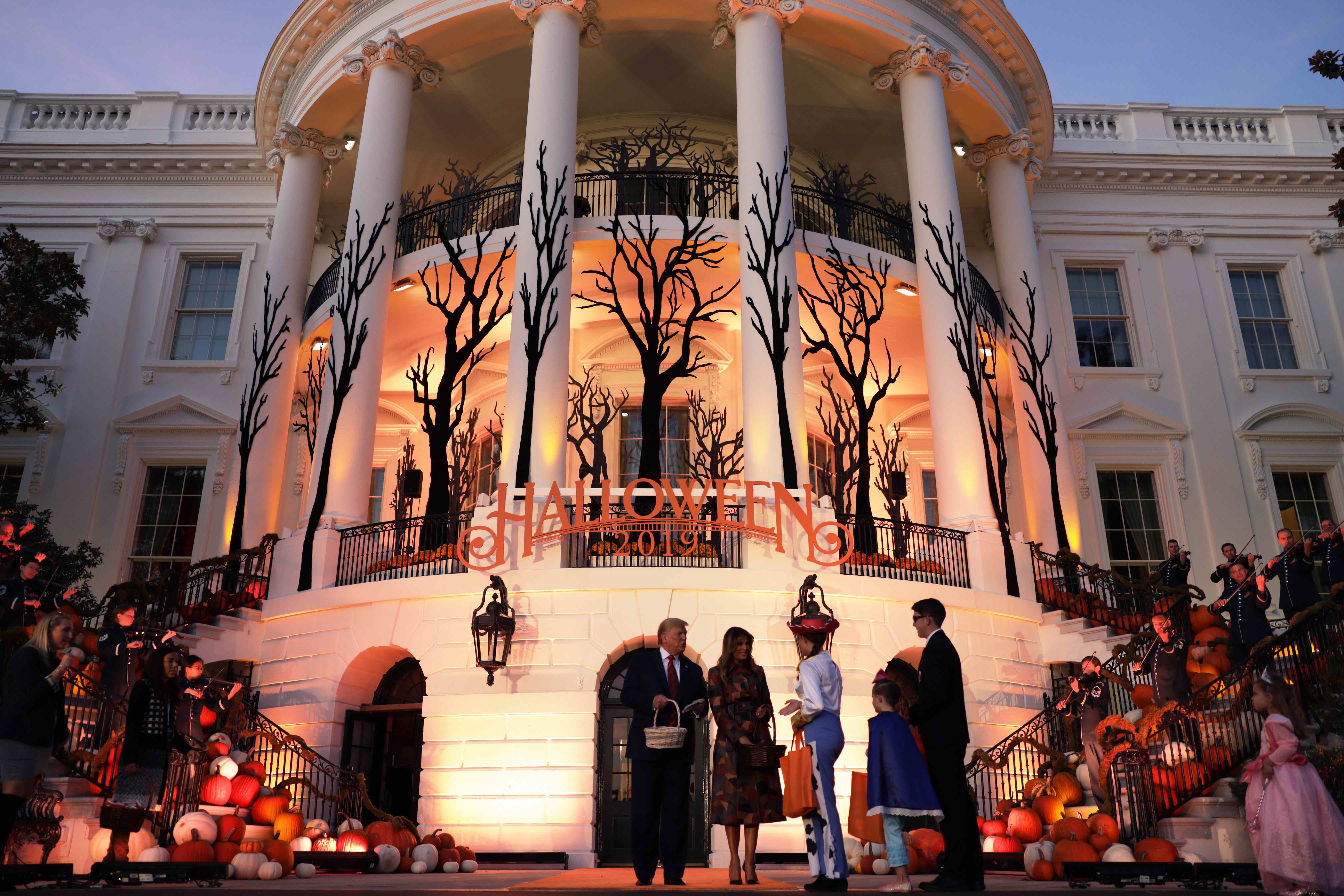 """The White House Halloween Party Included a """"Build the Wall"""" Activity for Children"""