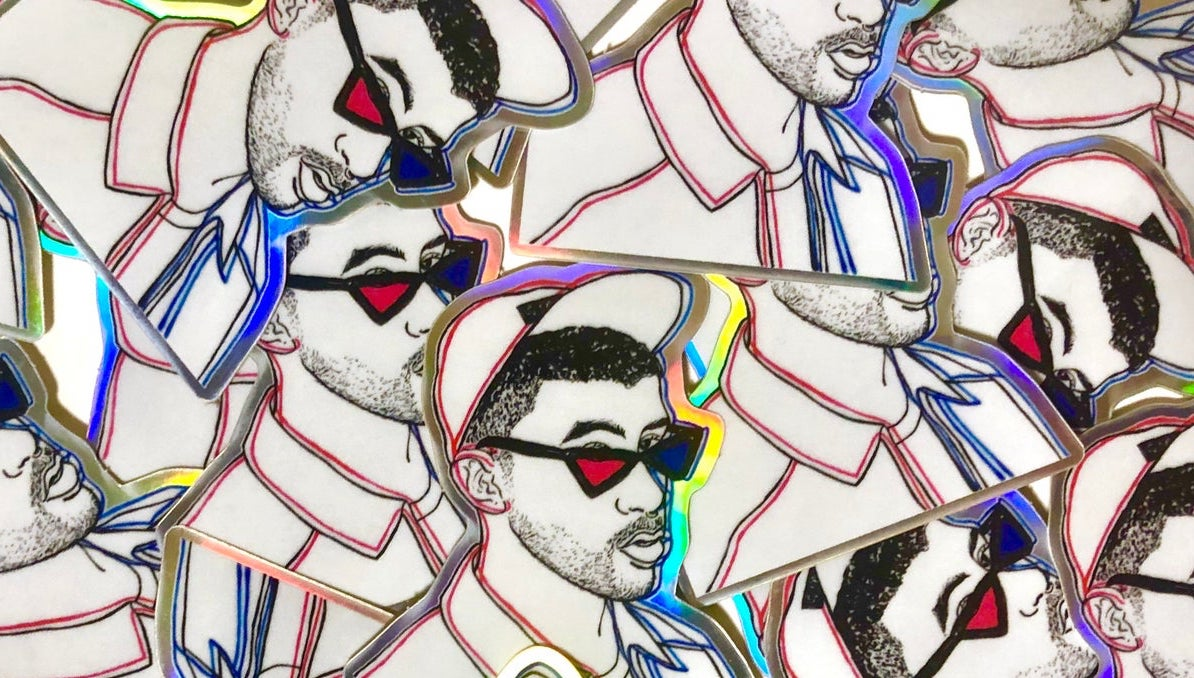 These Bad Bunny Stickers Help Raise Money for a Trans Latino's Top Surgery