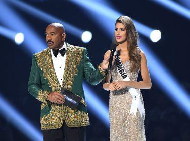 Twitter Is Dragging Steve Harvey for Making a Cartel Joke About Miss Colombia